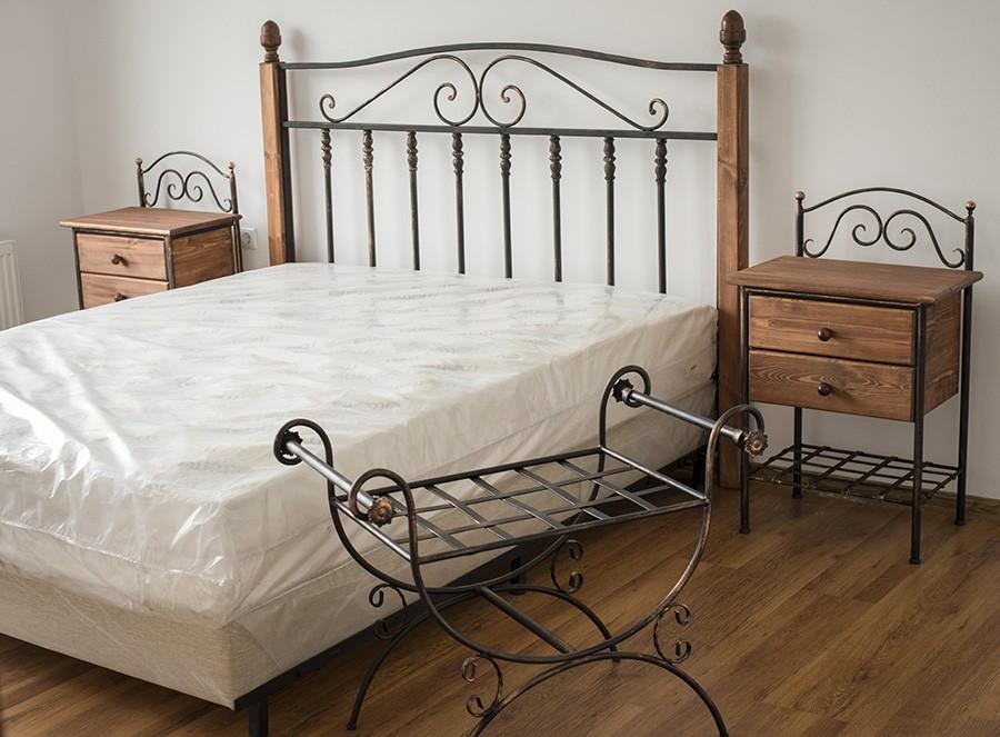 Легло ръчно ковано желязо Прованс